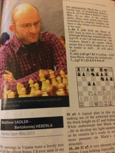 Matthew Sadler in deep (and hurried!) thought at the 2015 Vienna Blitz tournament!