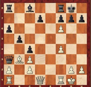 The position after Black's 15th move