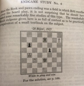 A Reti study from Reti's Best Games of Chess by Harry Golombek