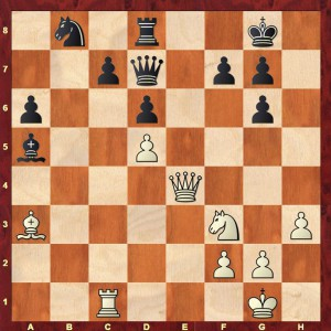 Position from Alekhine - Prils & Blaut, Antwerp Consultation 1923 after Black's 25th move