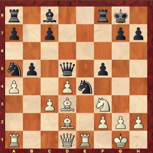 Nyholm-Alekhine Nordic Congress 1912 after White's 14th move