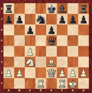 Alekhine-Reshevsky Kemeri 1937. Black has just played 13...e6