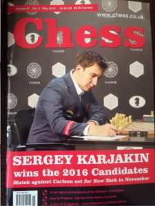 May 2016 issue of CHESS magazine