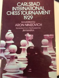 Tournament book of the 1929 Carlsbad Tournament by Nimzowitsch