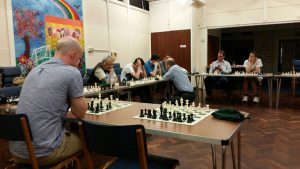 Matthew taking on Gerrards Cross club members! Photo by Natasha Regan