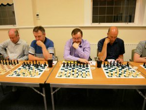 Players from Swale Chess Club concentrating on their moves