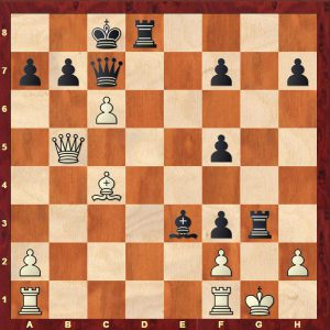Vereggen-Sadler, position after Black's 19th move